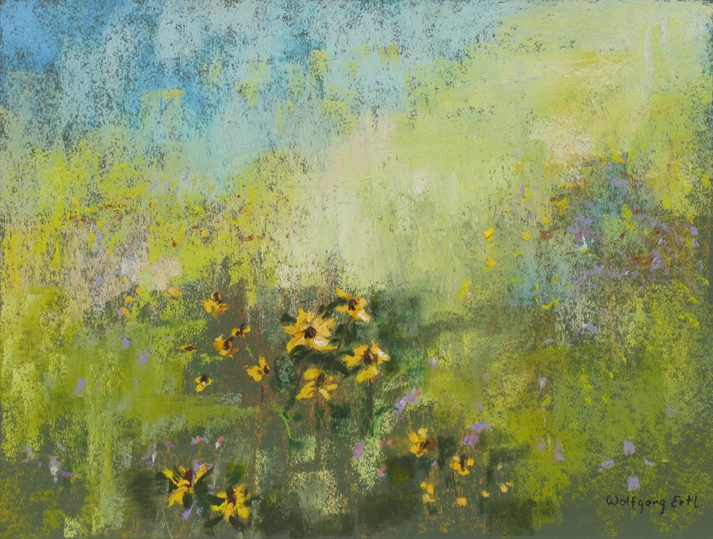 """""""In the Meadow"""" (Pastel, 8 1/2 x 11 1/2 in.)"""