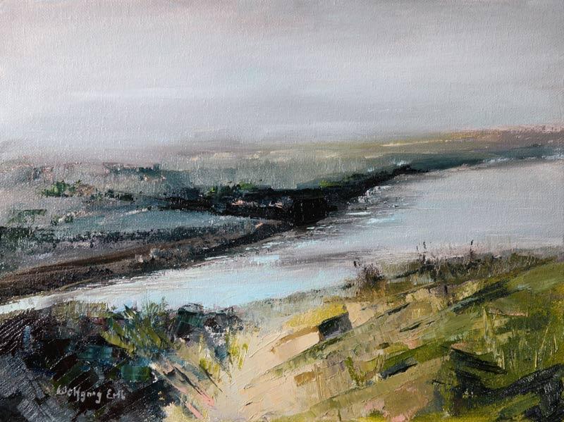 "October Marsh, Oil, 9"" x 12""    (2014)"