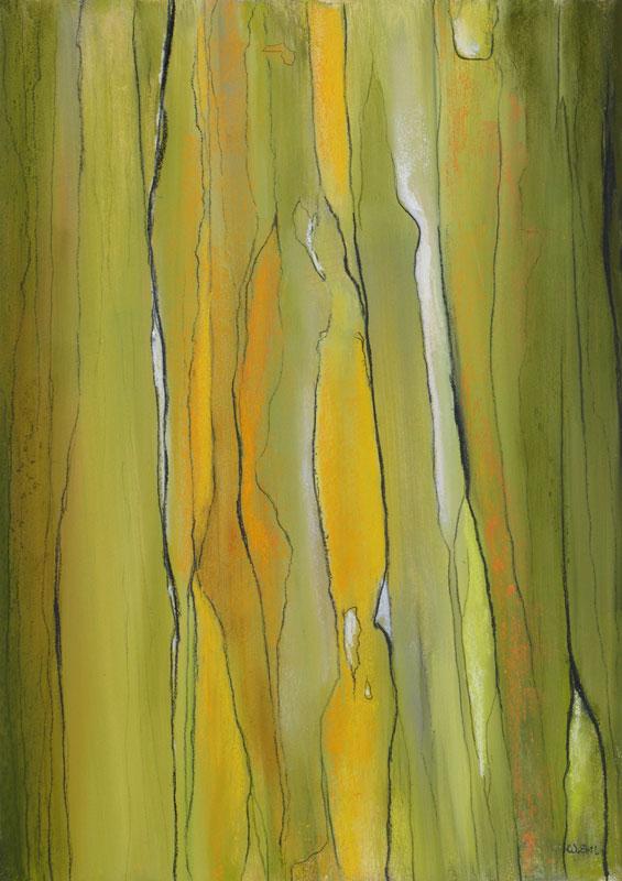 """Yellow Musing, Pastel, 14"""" x 10"""" (2013)"""
