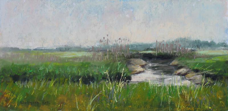 """May Marsh, Pastel, 6"""" x 12"""" (2013)"""