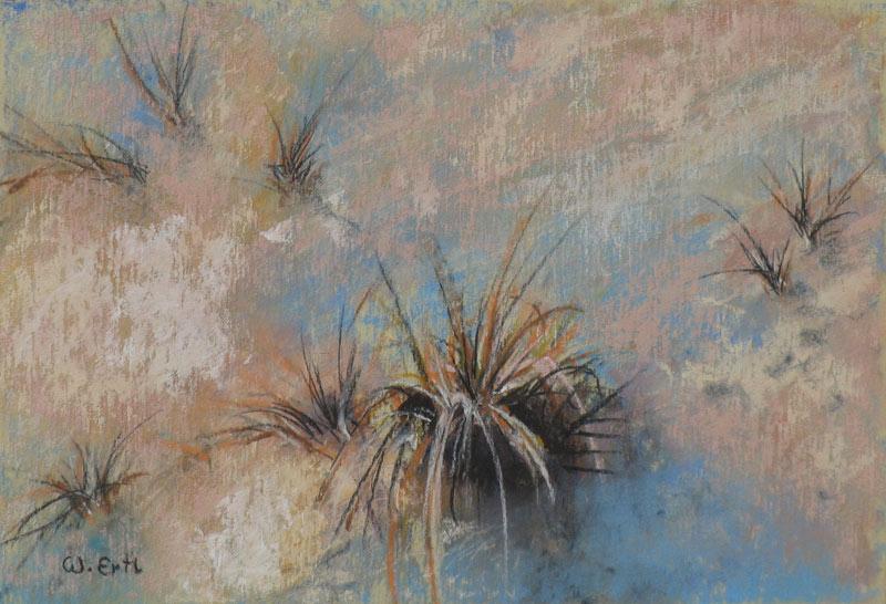 "Sea Grass, Pastel, 4 1/2"" x 6 1/2"" (2013)"