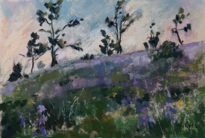 "Purple Evening, Pastel, 4.5"" x 6.5"" (2015)"