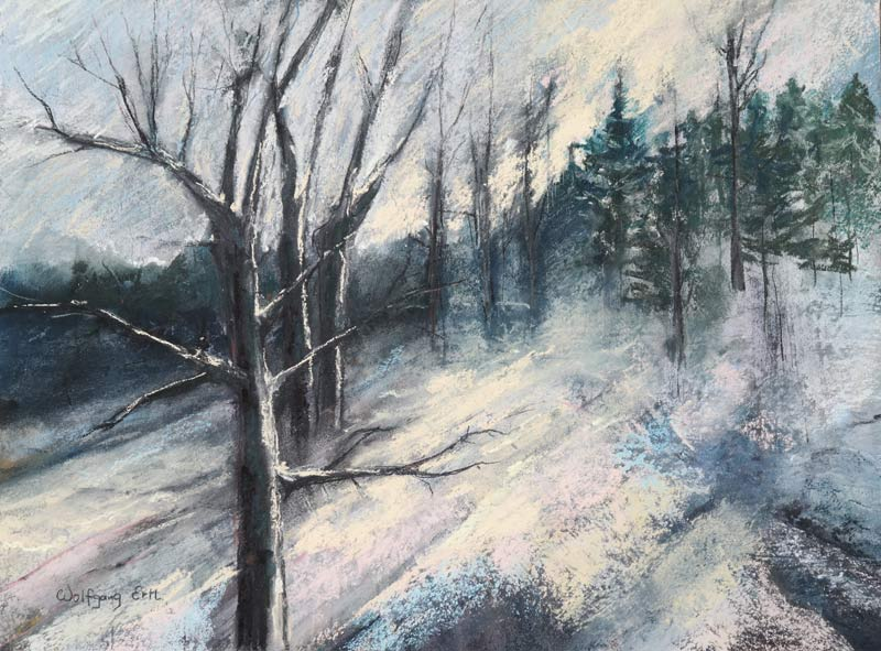 Winter Light 4, Pastel, 12 x 16 in. (2015)