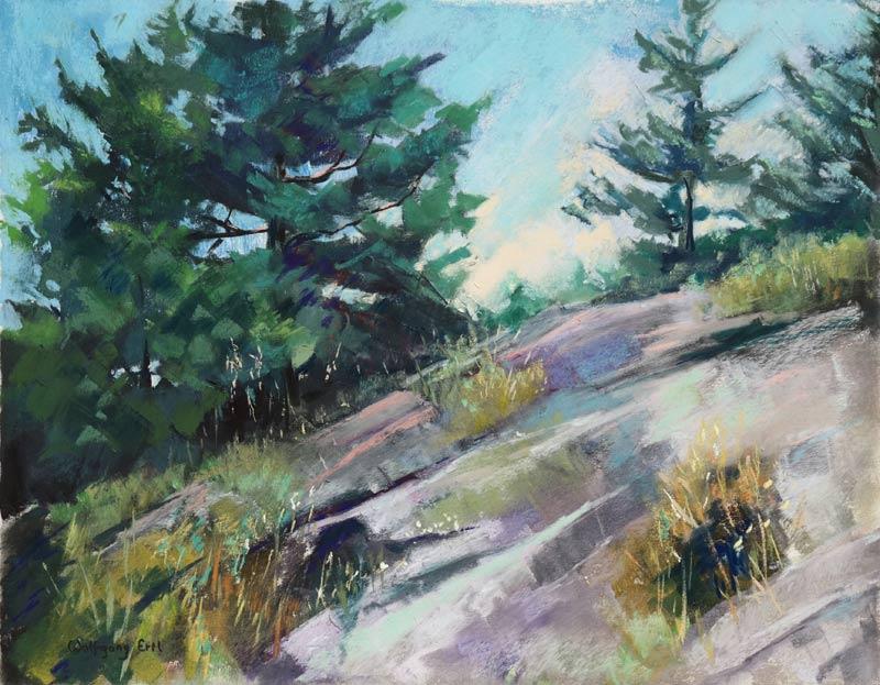 Monhegan Island 8, Pastel, 11 x 14 in. (2015)