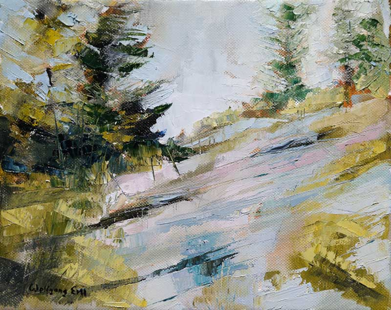 Monhegan Island 9, Oil on Canvas, 8 x 10 in. (2015)