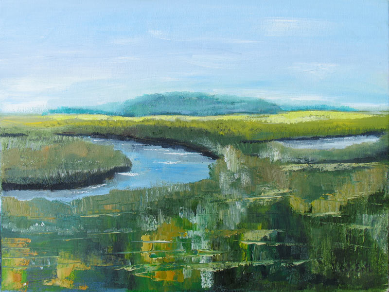 Marsh River, Oil on Canvas, 12 x 16 in. (2007)