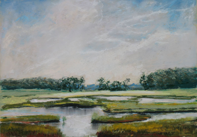 Rye Marsh Tranquility, Pastel, 10 14 in. (2010) - Sold