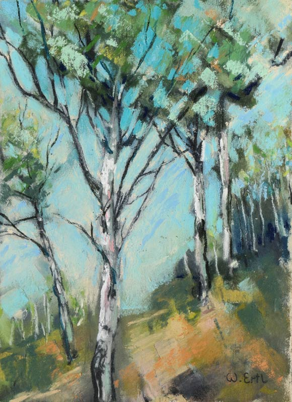 Aspen Trail, Pastel, 7 x 5 in. (2015)