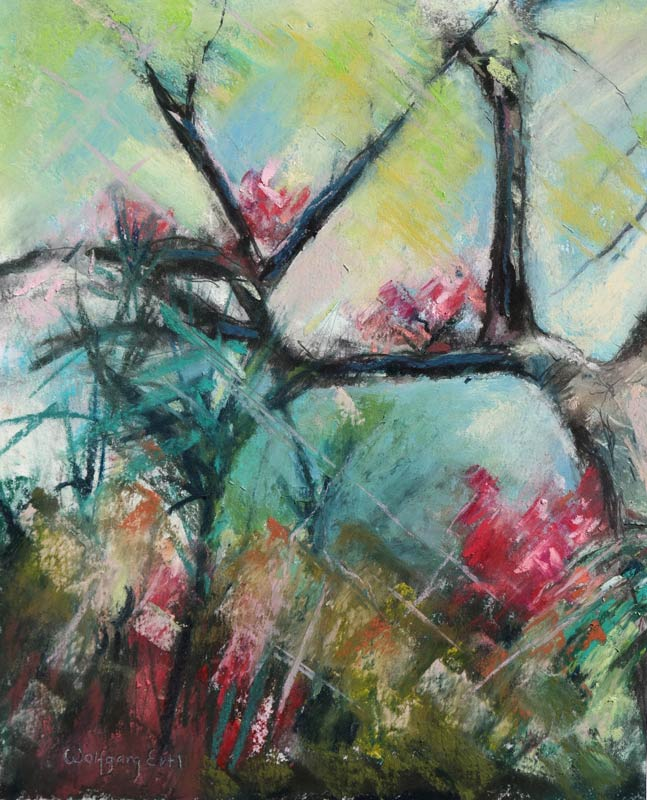 Florida Oak 2, Pastel, 8 x 10 in. (2015)