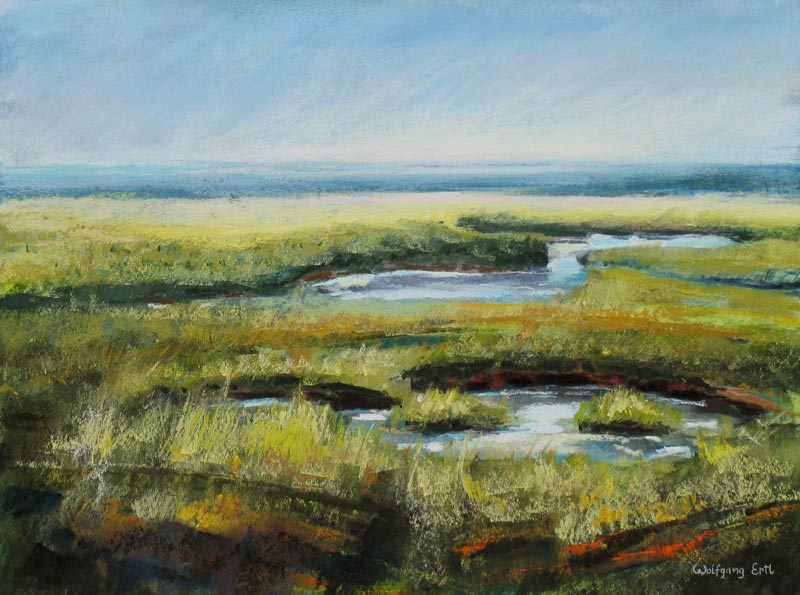 Marsh, Pastel, 12 x 16 in. (2009) - Sold