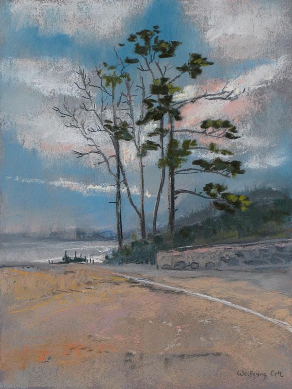Ocean Boulevard, Pastel, 12 x 9 in. (2012)