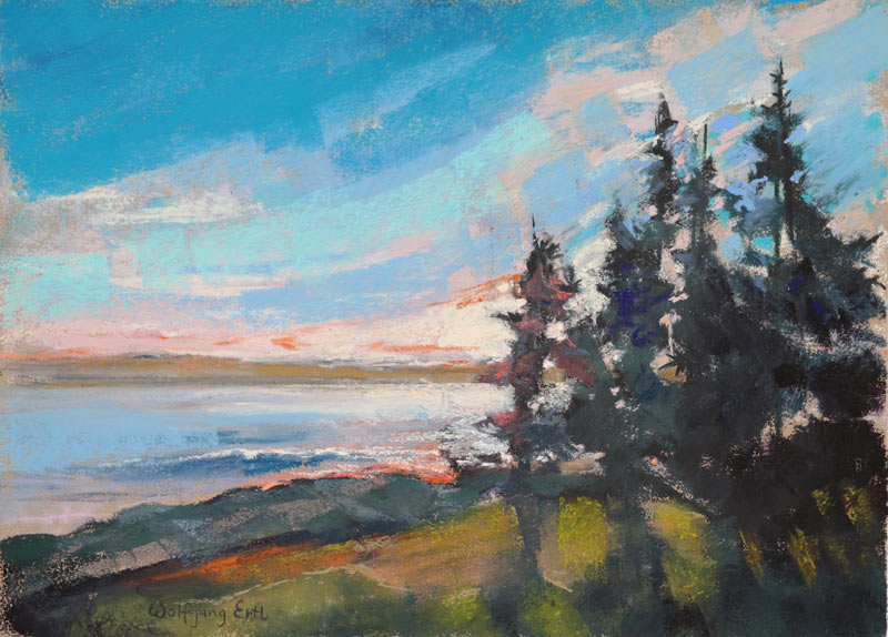 Pemaquid Evening 2, Pastel, 8.5 x 11.5 in. (2015)