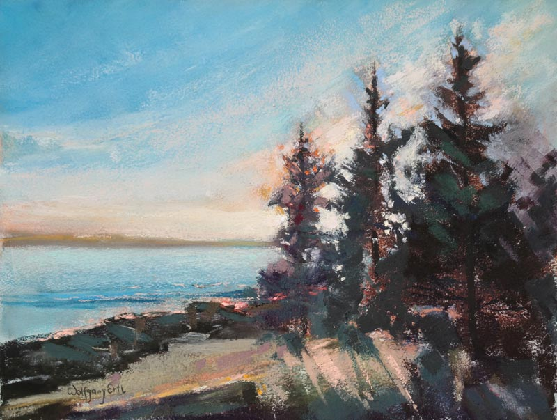 Pemaquid Evening, Pastel, 9 x 12 in. (2015)
