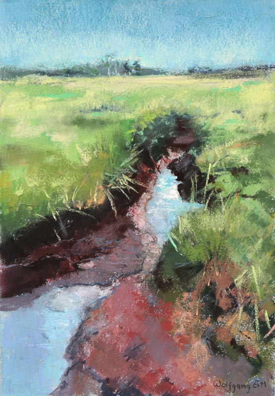 Salt Marsh, Pastel, 10 x 7 in. (2015)