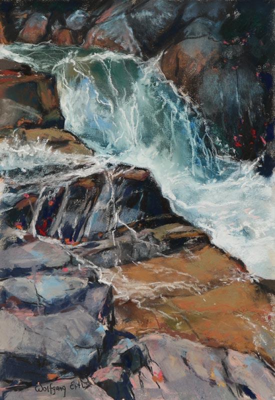 "Autumn Falls 6, Pastel, 10"" x 7"" (2016)"