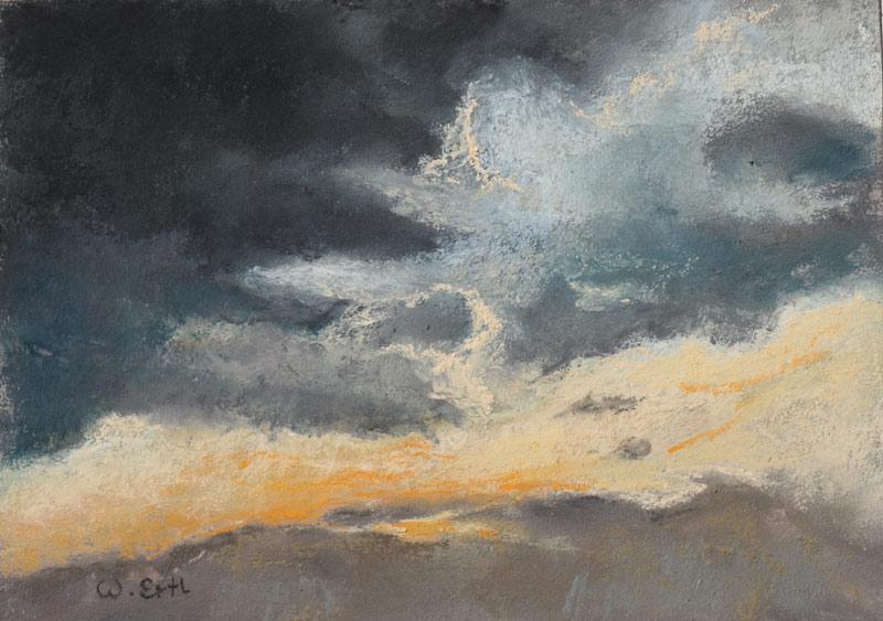 "Sky, Pastel, 5"" x 7"" (2016)"