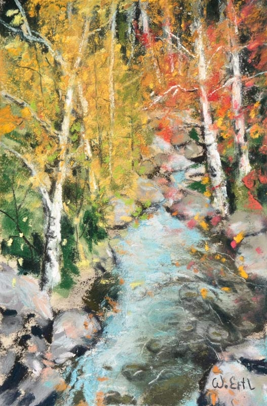"Autumn Scene 8, Pastel, 6"" x 4"" (2018) - Sold"