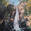 "Autumn Falls, Acrylic on Canvas, 20"" x 16"" (2020)"