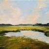 "Rye Marsh Evening 2, Oil on Canvas, 9"" x 12"" (2018)"