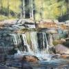 """Waterfalls 4, Pastel, 16"""" x 20"""" (2018)"""