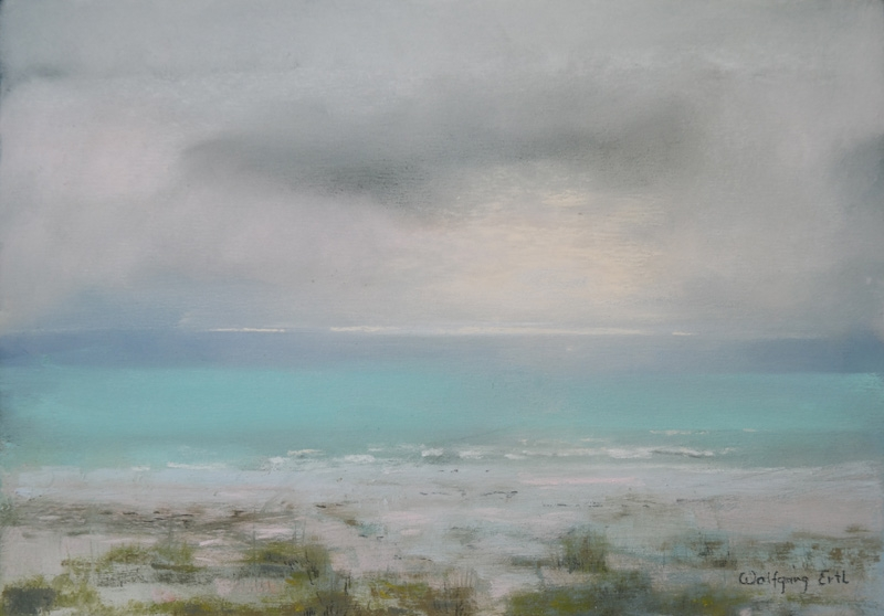 "Sea Fog, Pastel, 7"" x 10"" (2019)"