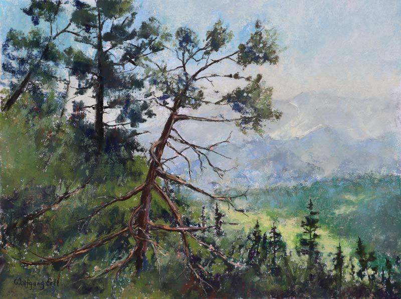 "Alpine View, Pastel, 9"" x 12"" (2019)"