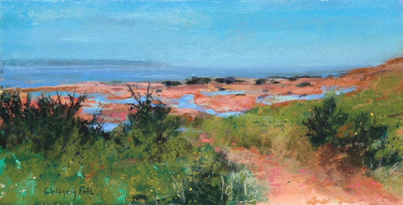 "Bay of Fundy, Low Tide 2, Pastel, 6"" x 12"" (2018)"