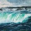 "Horseshoe Falls 2, Pastel, 7"" x 10"" (2018)"