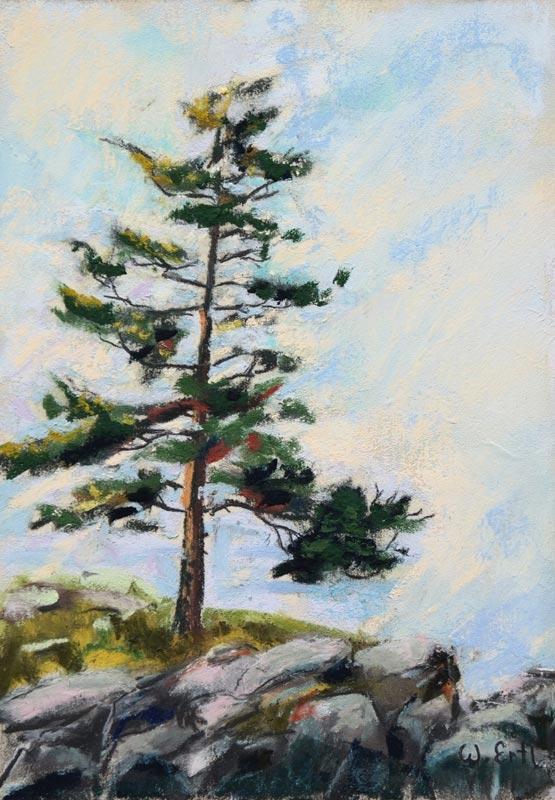 "Lone Tree, Pastel, 7"" x 5"" (2018) - Sold"