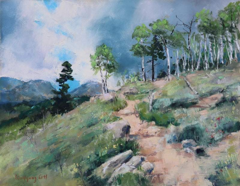 "Rocky Mountain Reminiscences 2, Pastel, 10"" x 13"" (2020)"