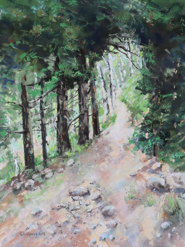 "To the Aspen Grove 2, Pastel, 16"" x 12"" (2020)"