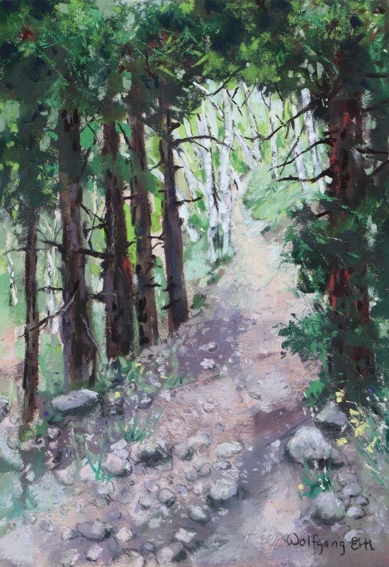 "To the Aspen Grove, Pastel, 10"" x 7"" (2020)"